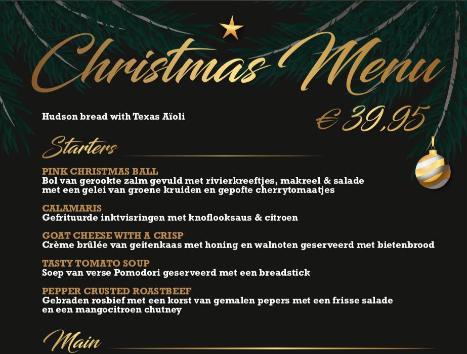 Christmas Menu Katwijk