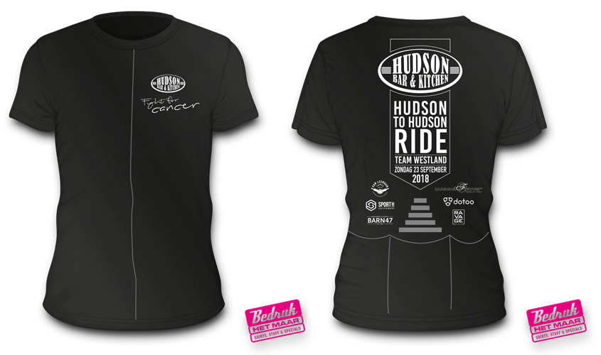 Hudson to Hudson Ride T-shirts 2018